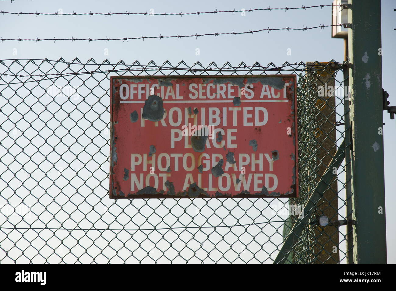 cold war airfield, v-bomber base, RAF Scampton - Stock Image