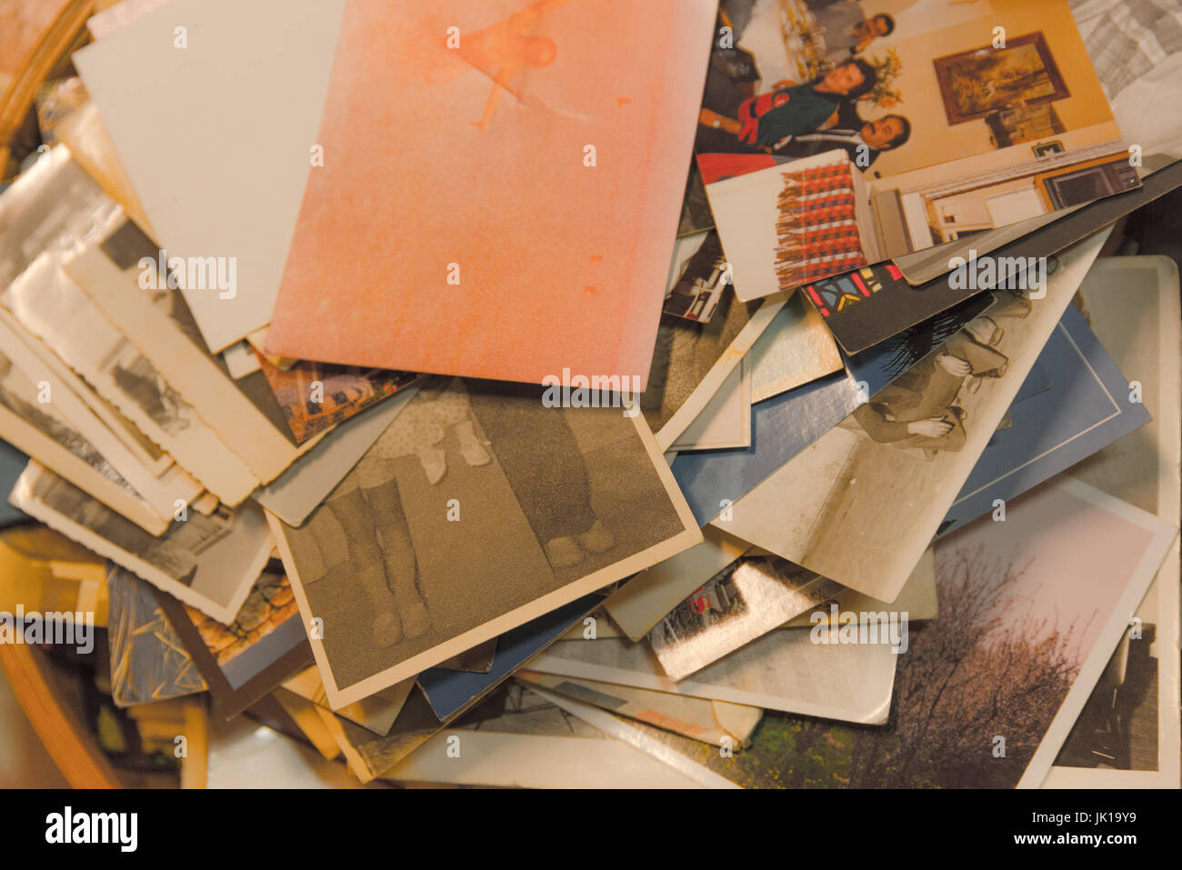 Many Antique and vintage old photos together. - Stock Image