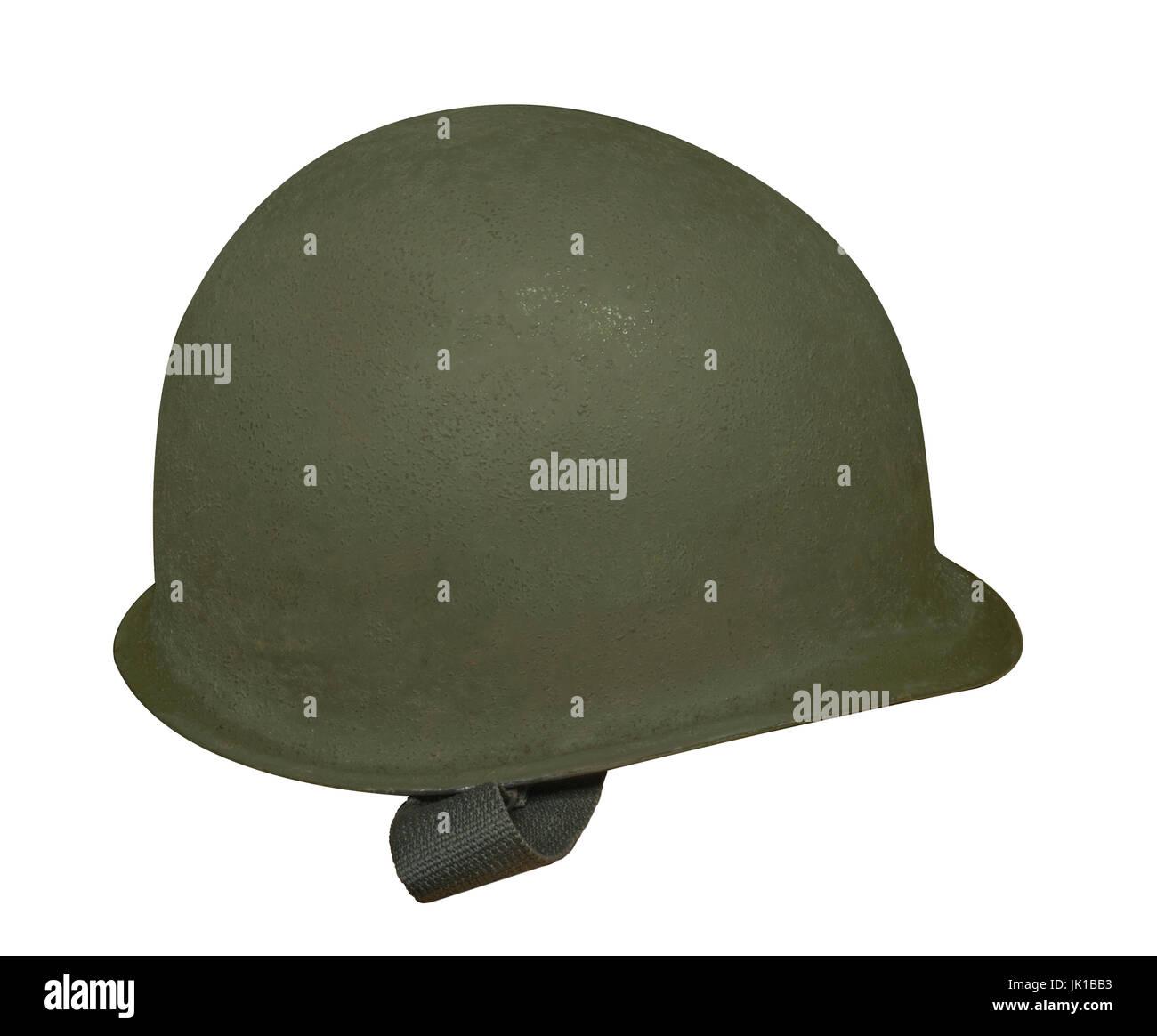 WW2 American M1 Helmet - Stock Image