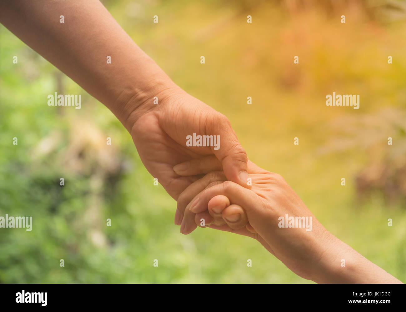 Two pairs of hand touch together, helping hands concept. Helping hand outstretched for help. Stock Photo