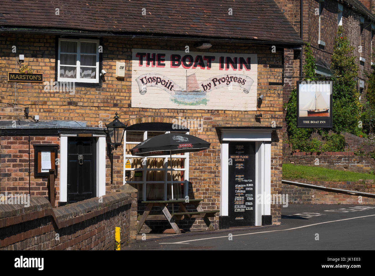 The Boat Inn at Coalport, near Ironbridge, Shropshire, England, UK - Stock Image