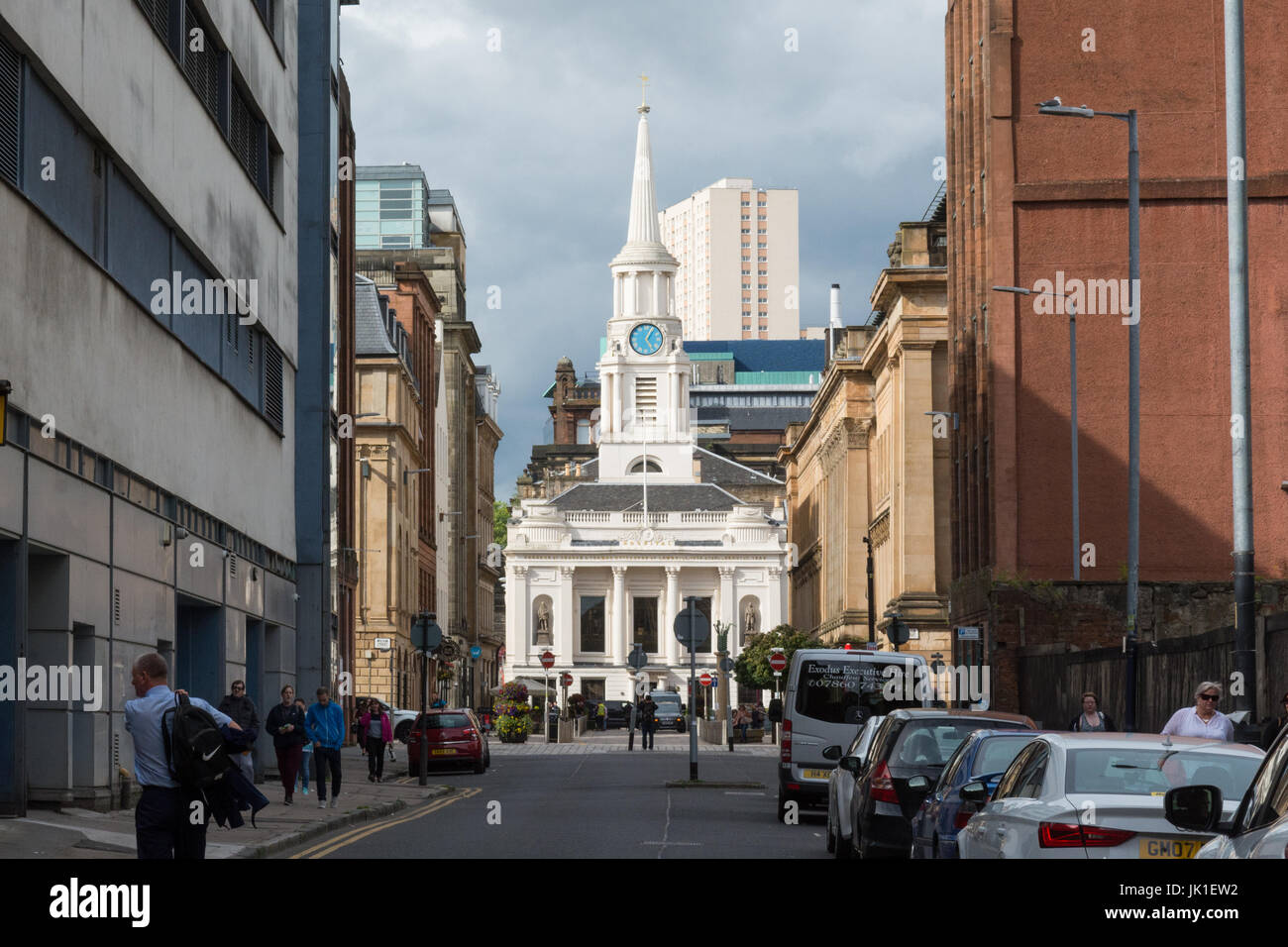 Hutchesons city grill - formerly Hutchesons Hall and Hutchesons hospital, in Glasgows merchant city, Glasgow, Scotland, - Stock Image