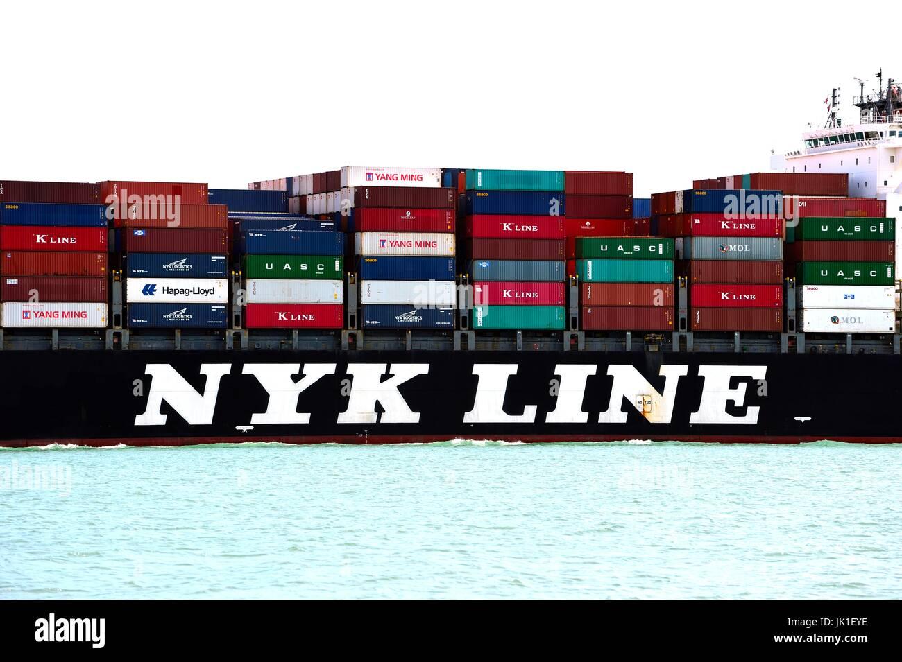 Cargo ships - Stock Image