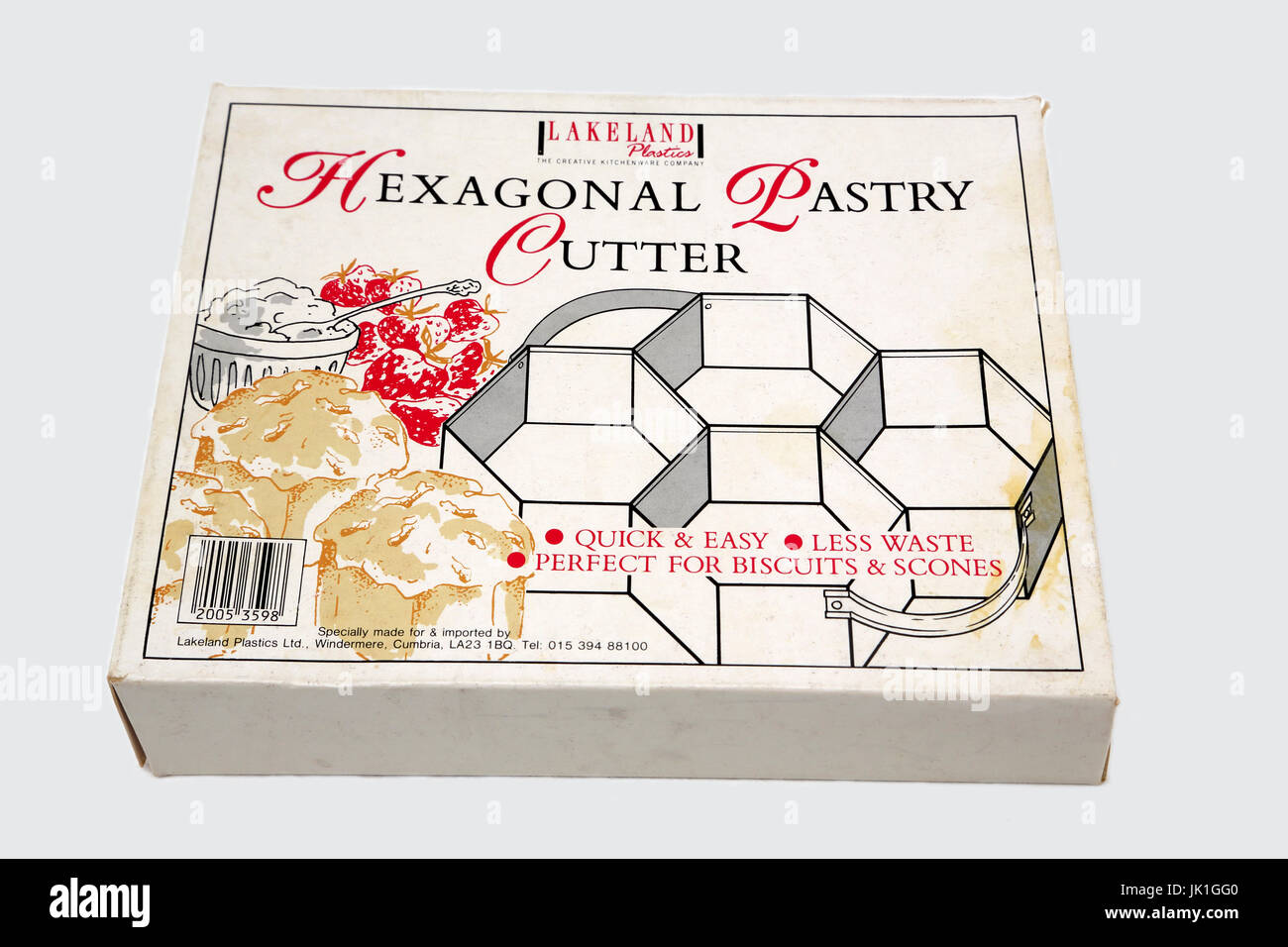 Hexagonal Pastry Cutter - Stock Image