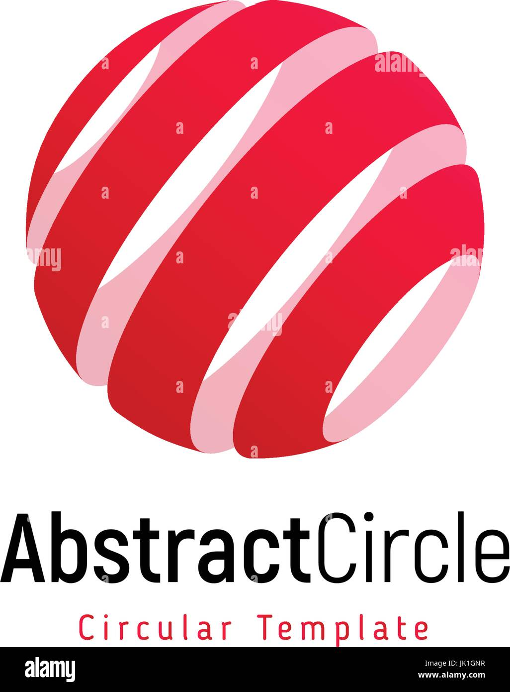 abstract red sun stripped vector logo template round swirl simple