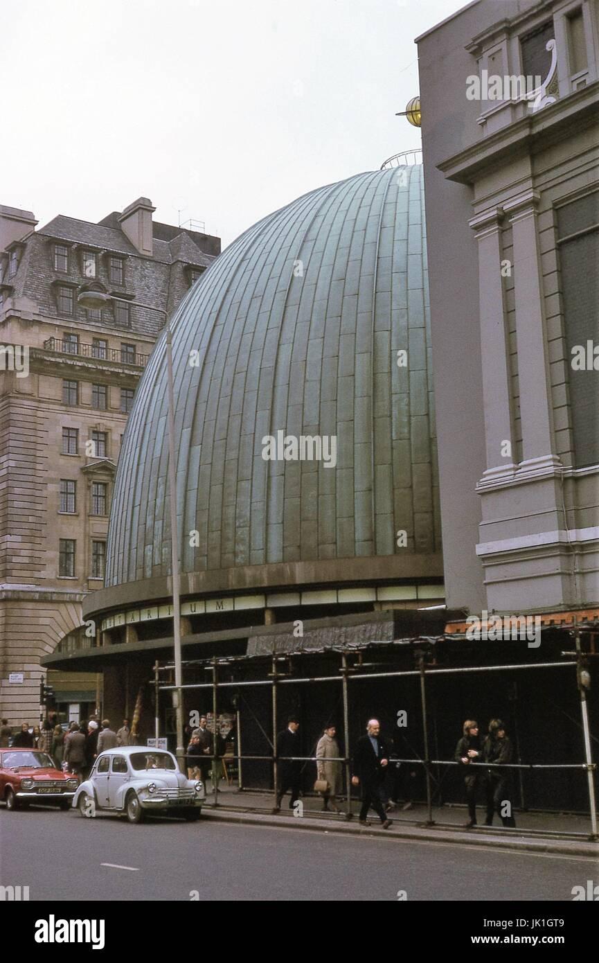 London Planetarium 1971 - Stock Image