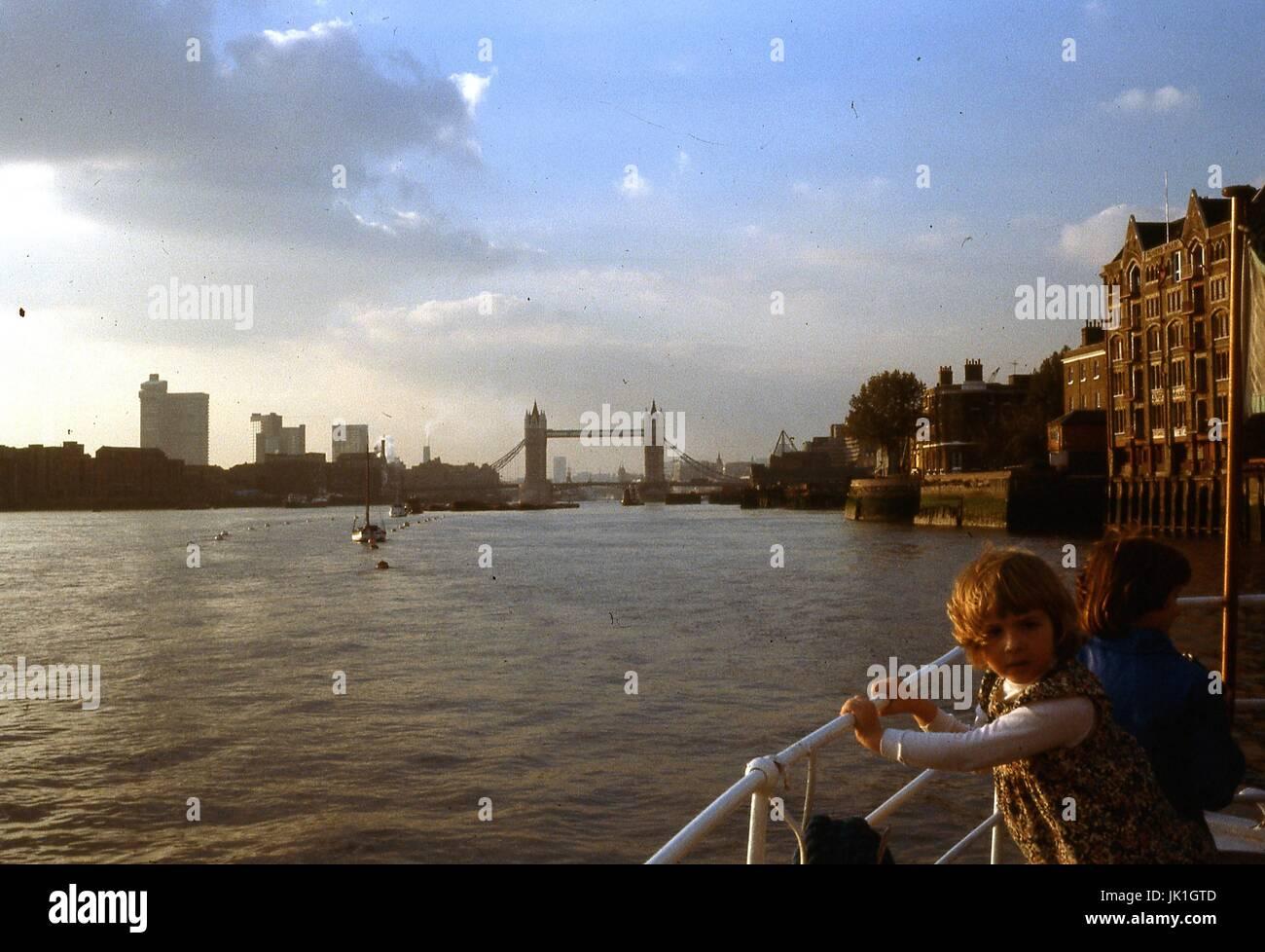 Tower Bridge, London 1977 - Stock Image