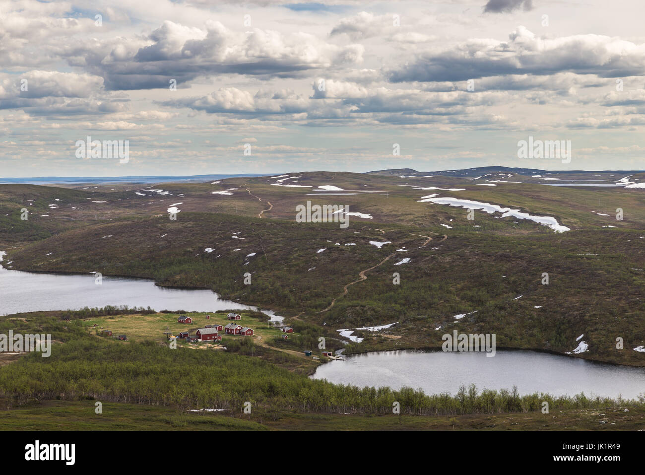 mountain lake Finnmark Norway - Stock Image