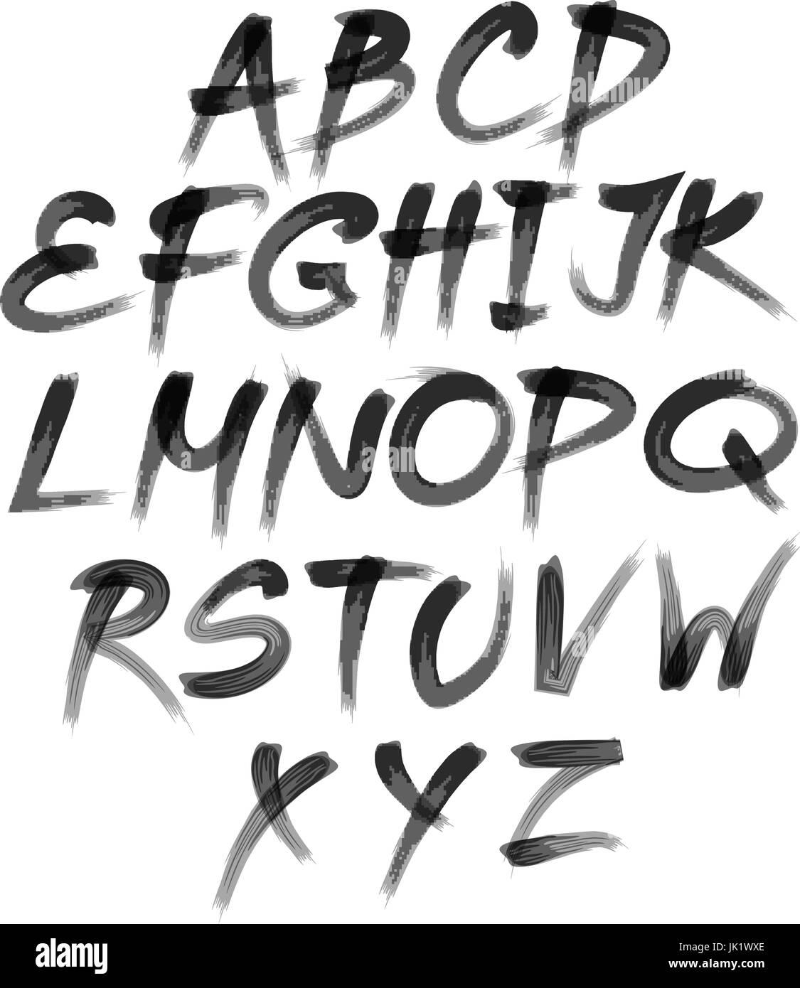 Alphabet Letters Spray Paint Abc Stock Photos Alphabet