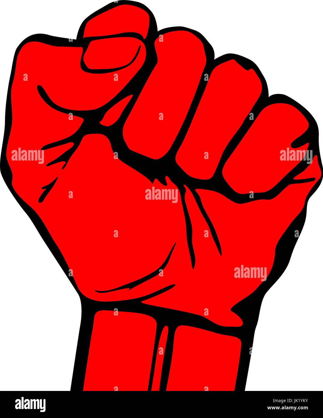 Raised fist vector icon art hand protest graffiti strike fight Stock
