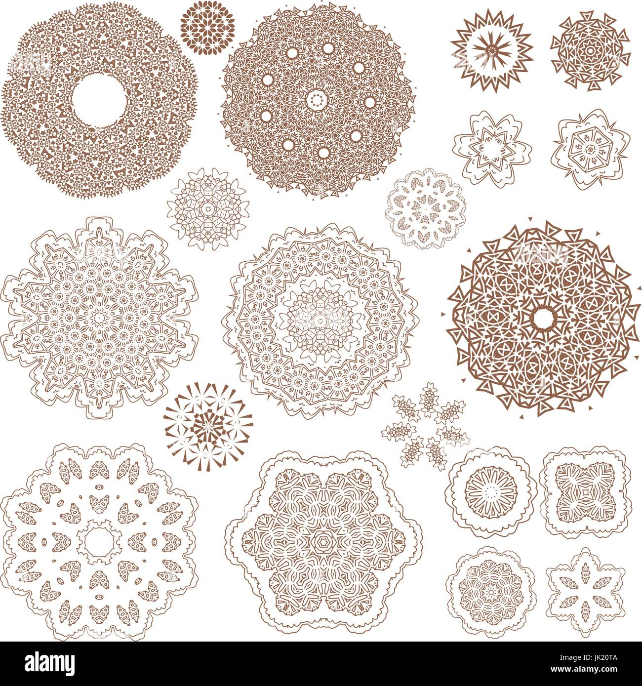 Henna Tattoo Doodle Vector Elements On White Background Art Stock