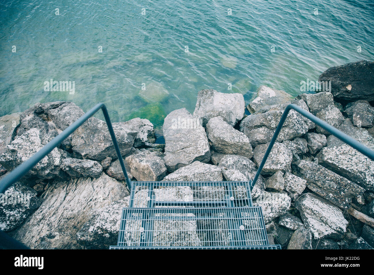 Stairs to the Water - Stock Image