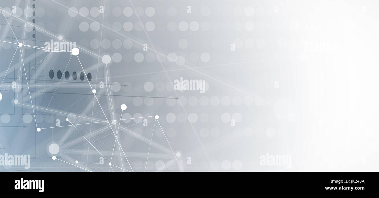 Neural network concept. Connected cells with links. High technology process. Abstract background Stock Photo