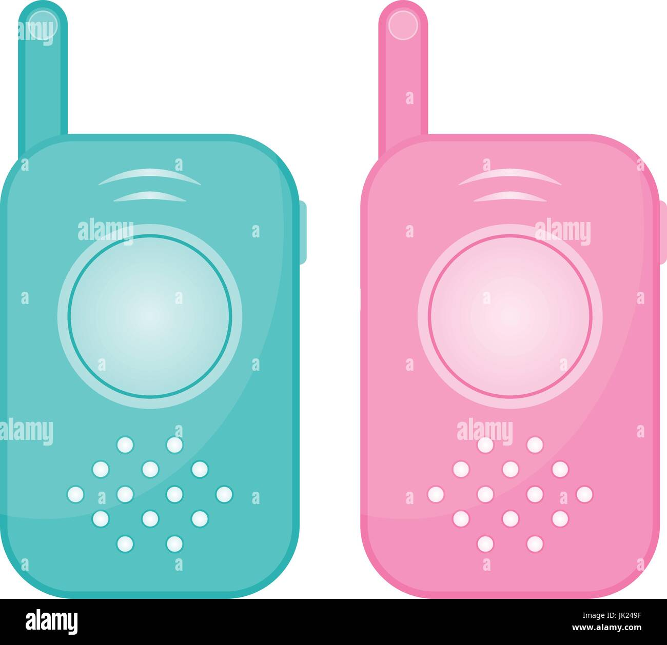 Set Of Two Baby Monitors Isolated On A White Background. Realistic Vector Illustration. - Stock Vector