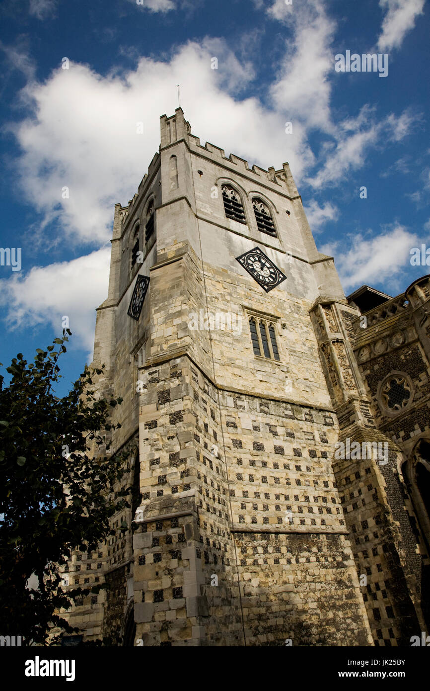 Waltham Abbey Church, the place of King Harold's burial in 1066. Also known as The Abbey Church famous for it's - Stock Image