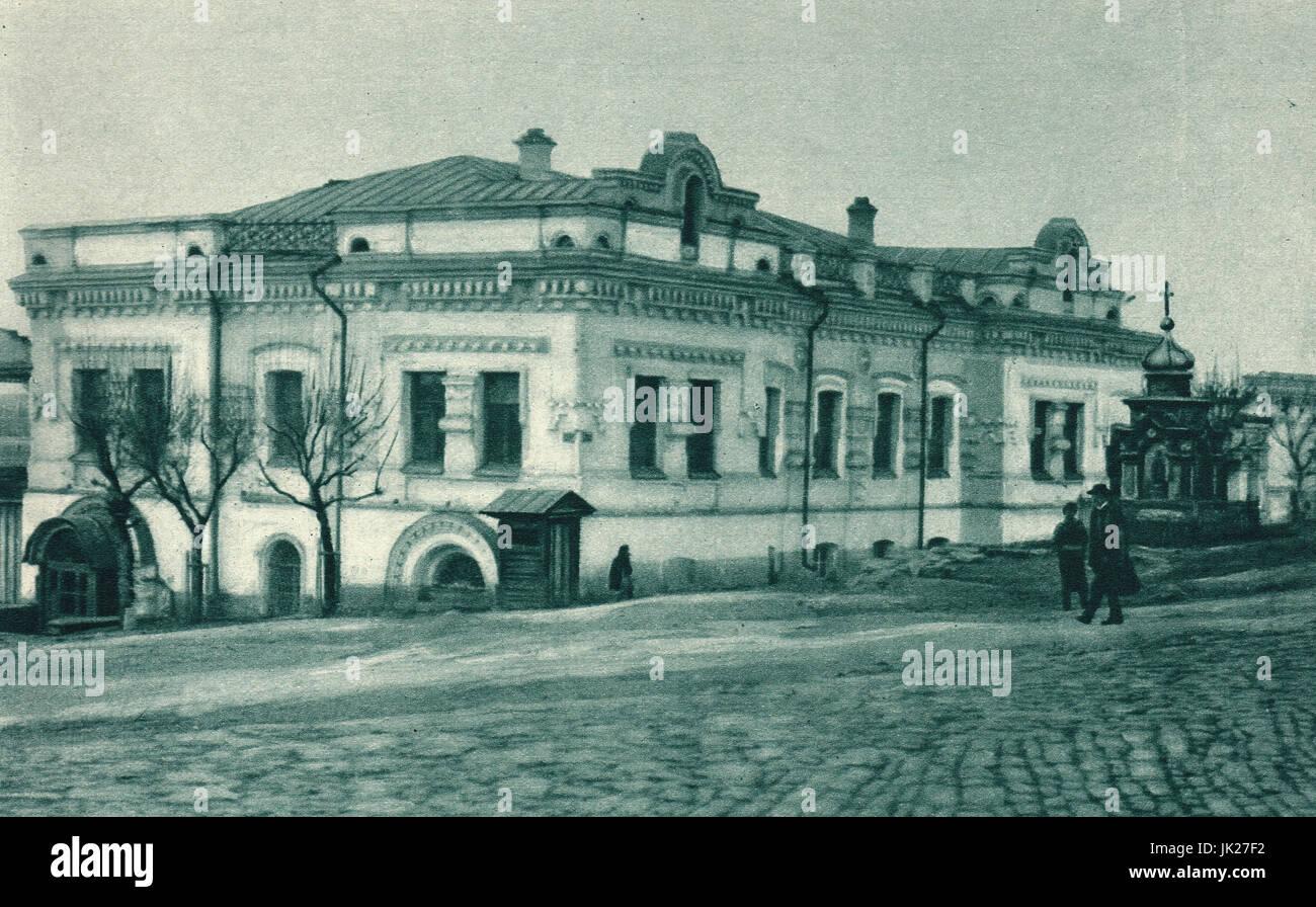 Ipatiev House, Yekaterinburg, where Tsar Nicholas & family were killed - Stock Image