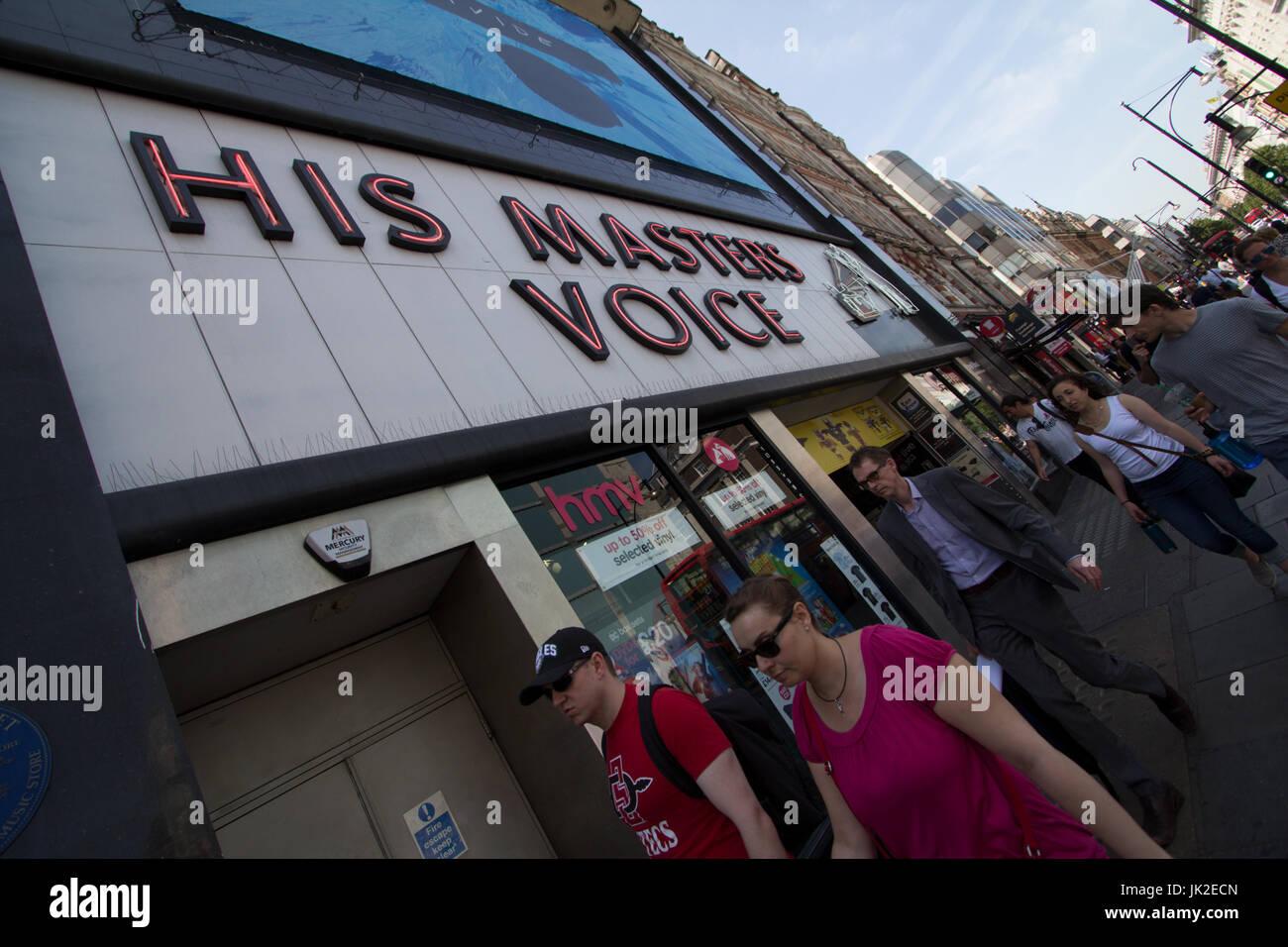 HMV His masters voice, Oxford Street - Stock Image