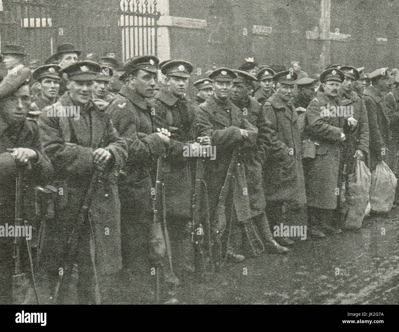 March to Whitehall, demobilisation protest by soldiers, 7 January, 1919 - Stock Image
