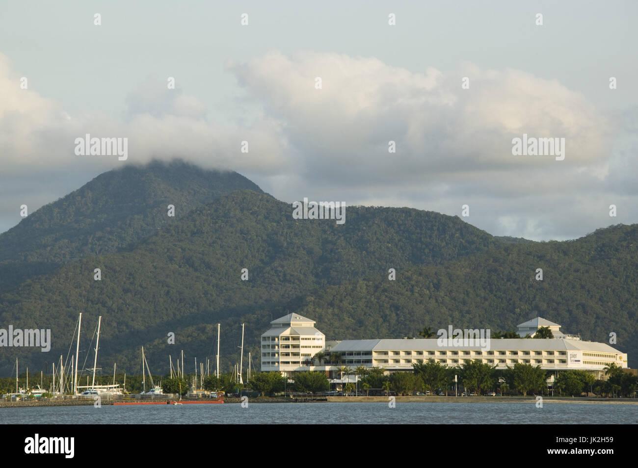 Australia, Queensland, North Coast, Cairns, Cairns Harbour from the Esplanade, Stock Photo