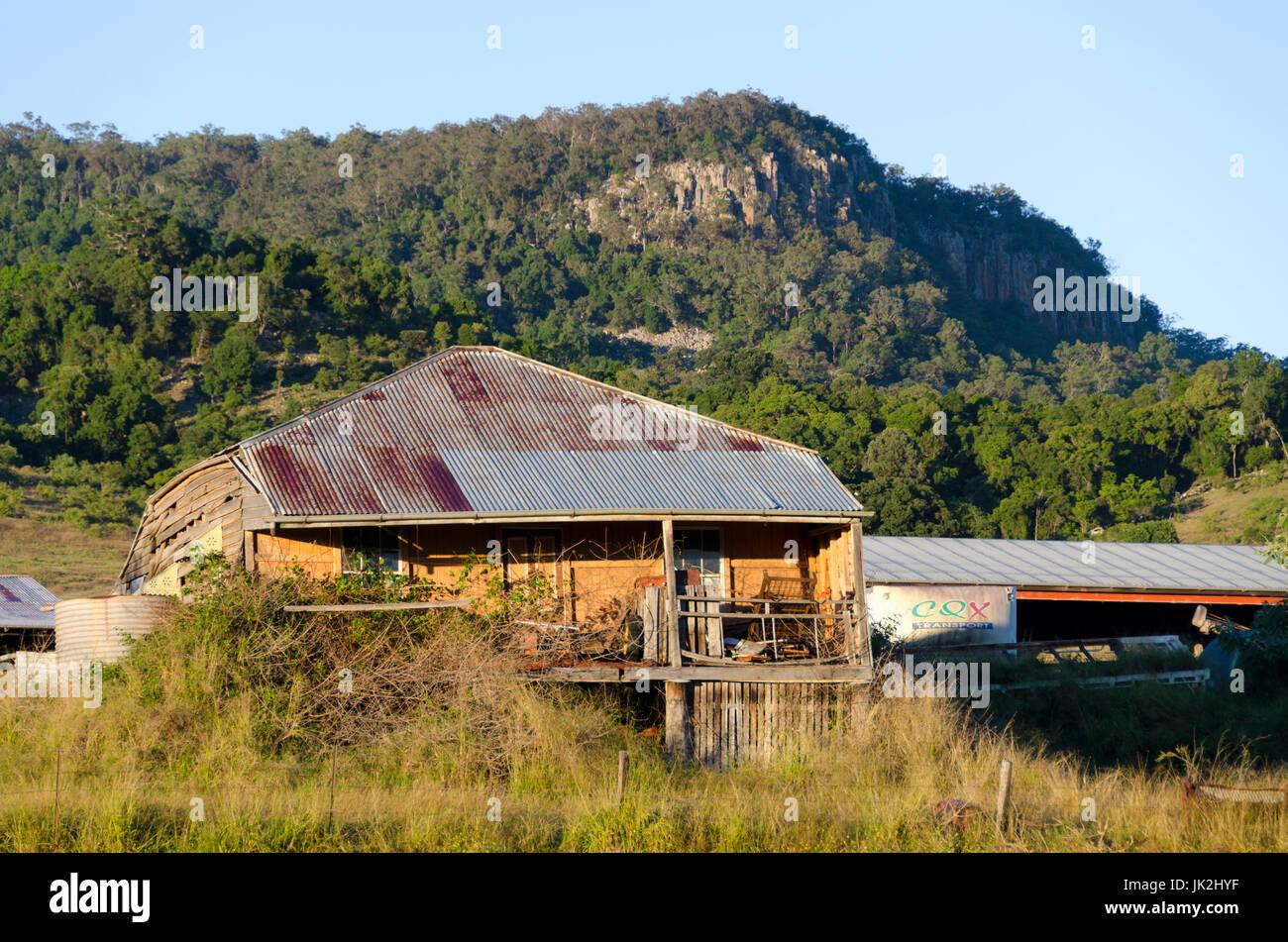 Derelict house, Boonah, Queensland, Australia - Stock Image