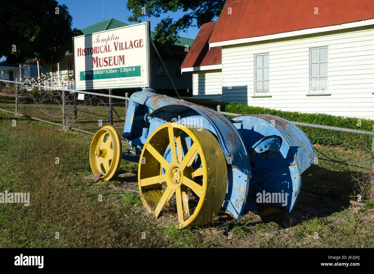 Old Fordson tractor, Templin Historical Village Museum, Boonah, Queensland, Australia - Stock Image