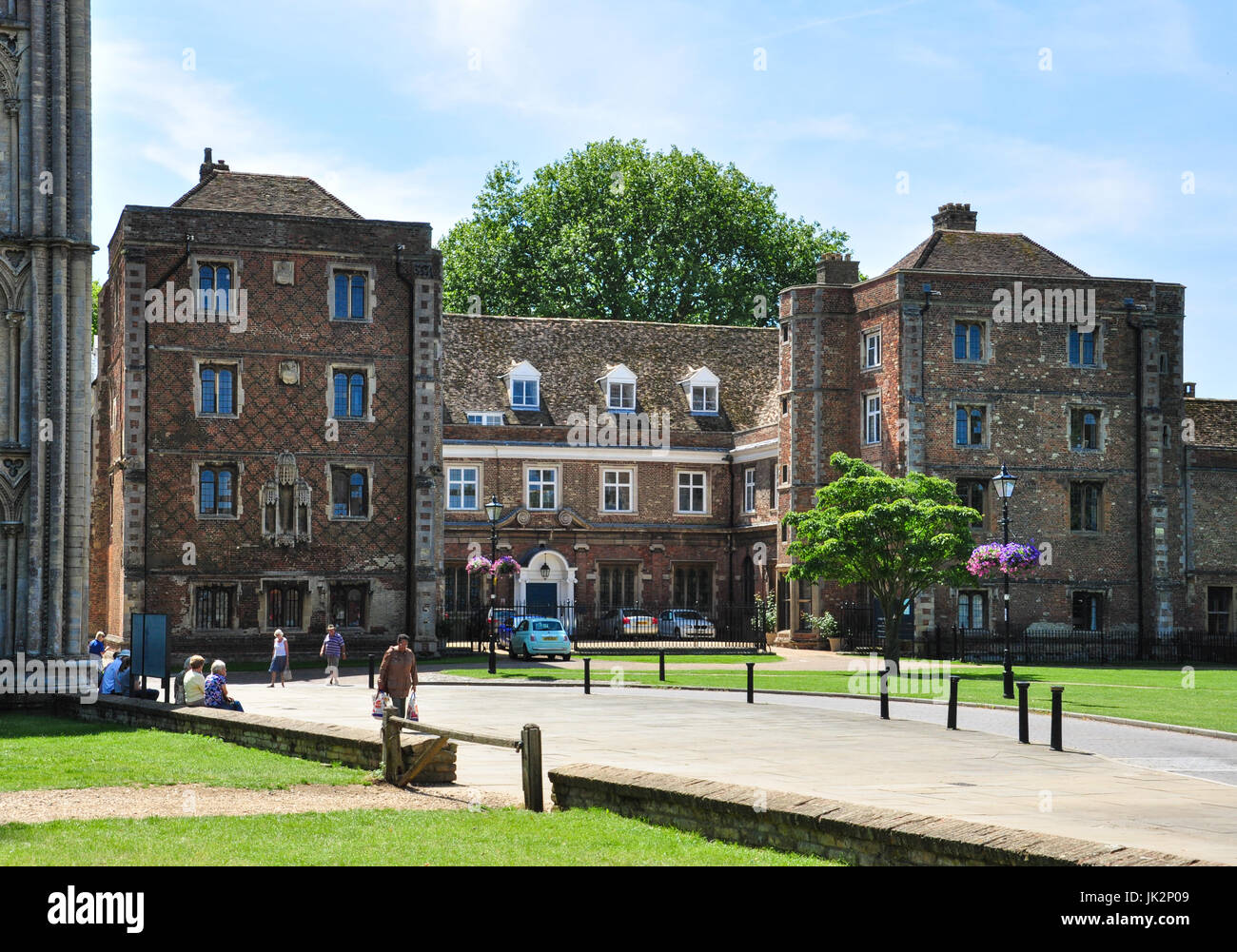 The Old Palace (now part of Ely King's School), Palace green, Ely, Cambridgeshire, England, UK - Stock Image