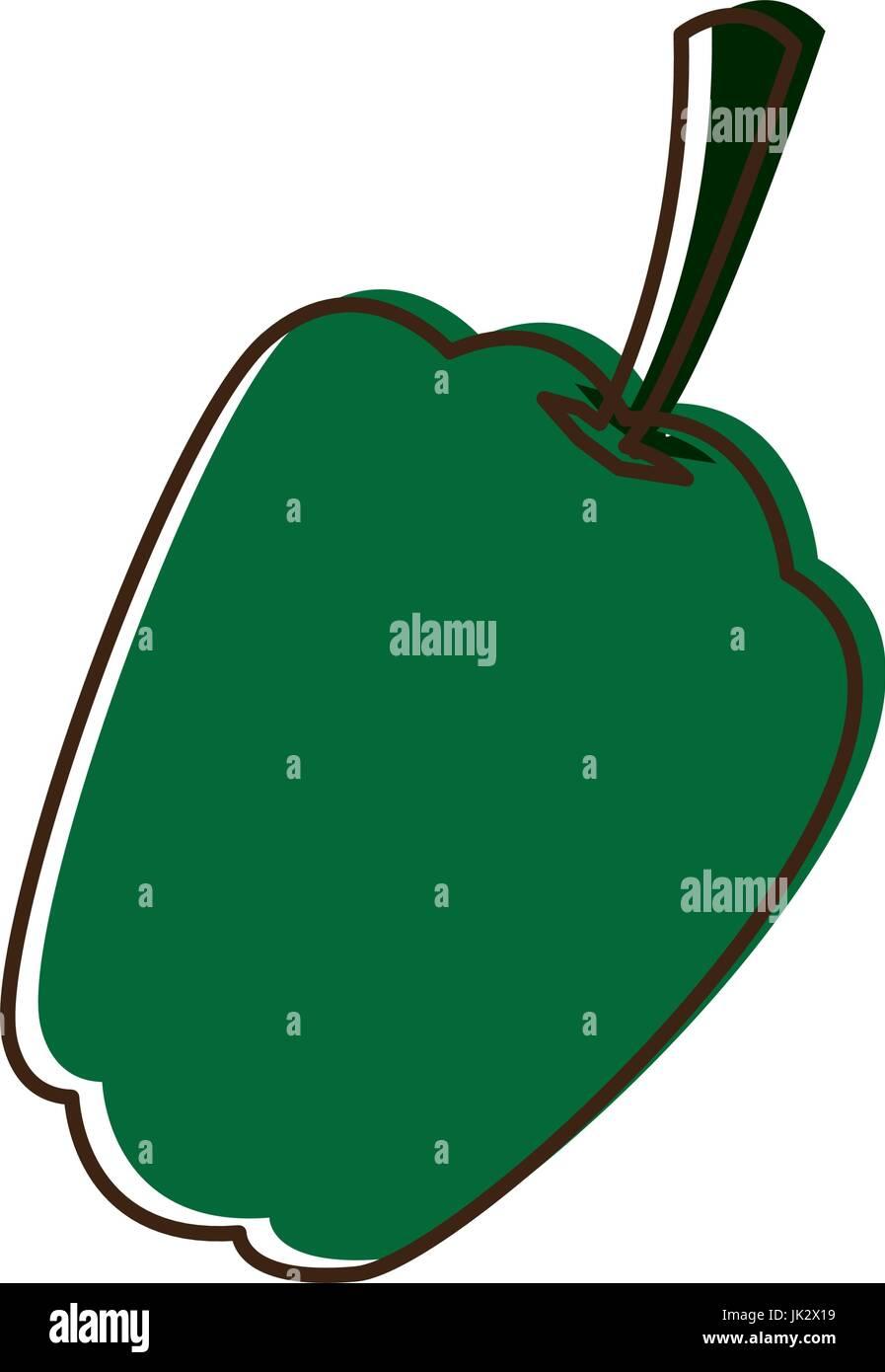 fresh pepper vegetable for farm market vegetarian - Stock Vector
