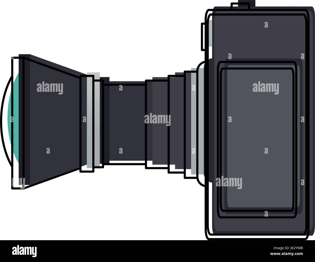 professional camera photo lens equipment - Stock Image