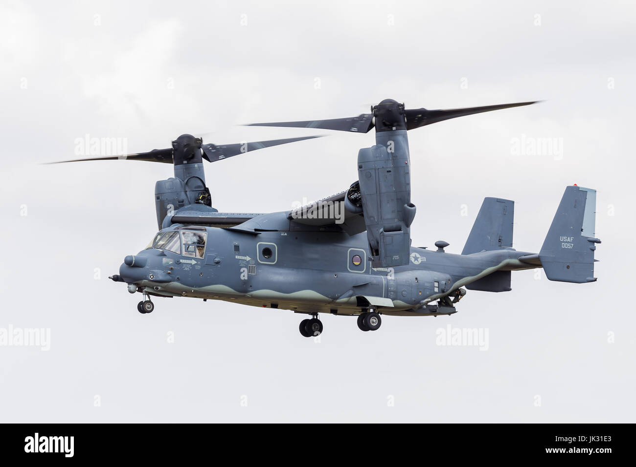 CV-22B Osprey from the USAF seen at the 2017 Royal International Air Tattoo at Royal Air Force Fairford in Gloucestershire - Stock Image