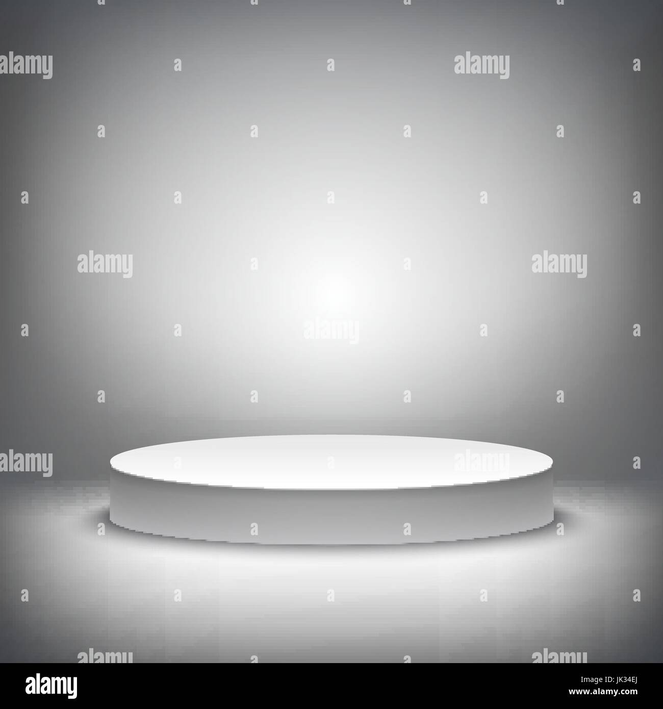 a 3d illustration of blank template layout of white empty musical