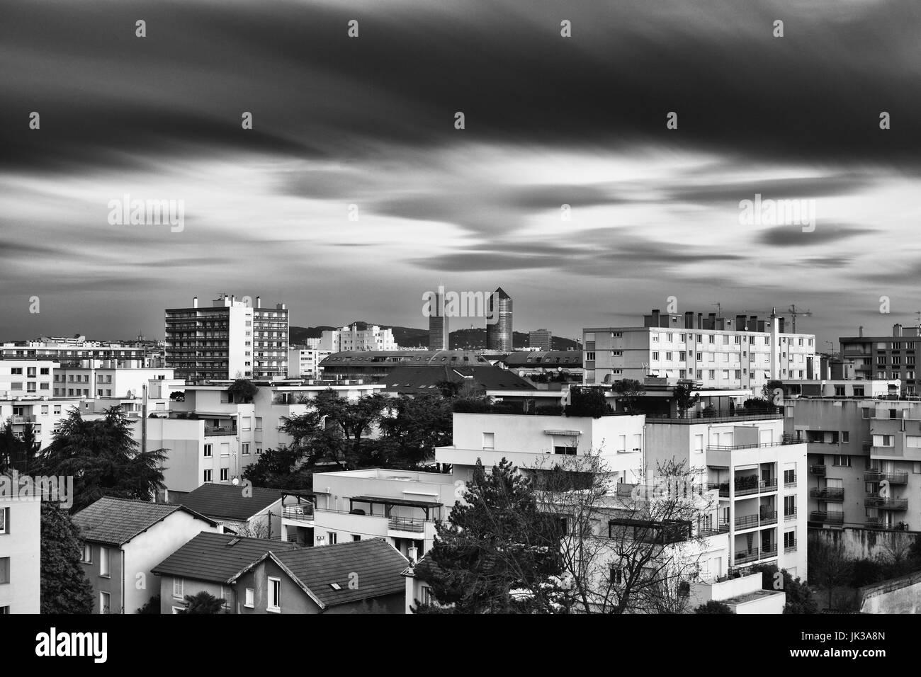 Lyon skyline - Stock Image
