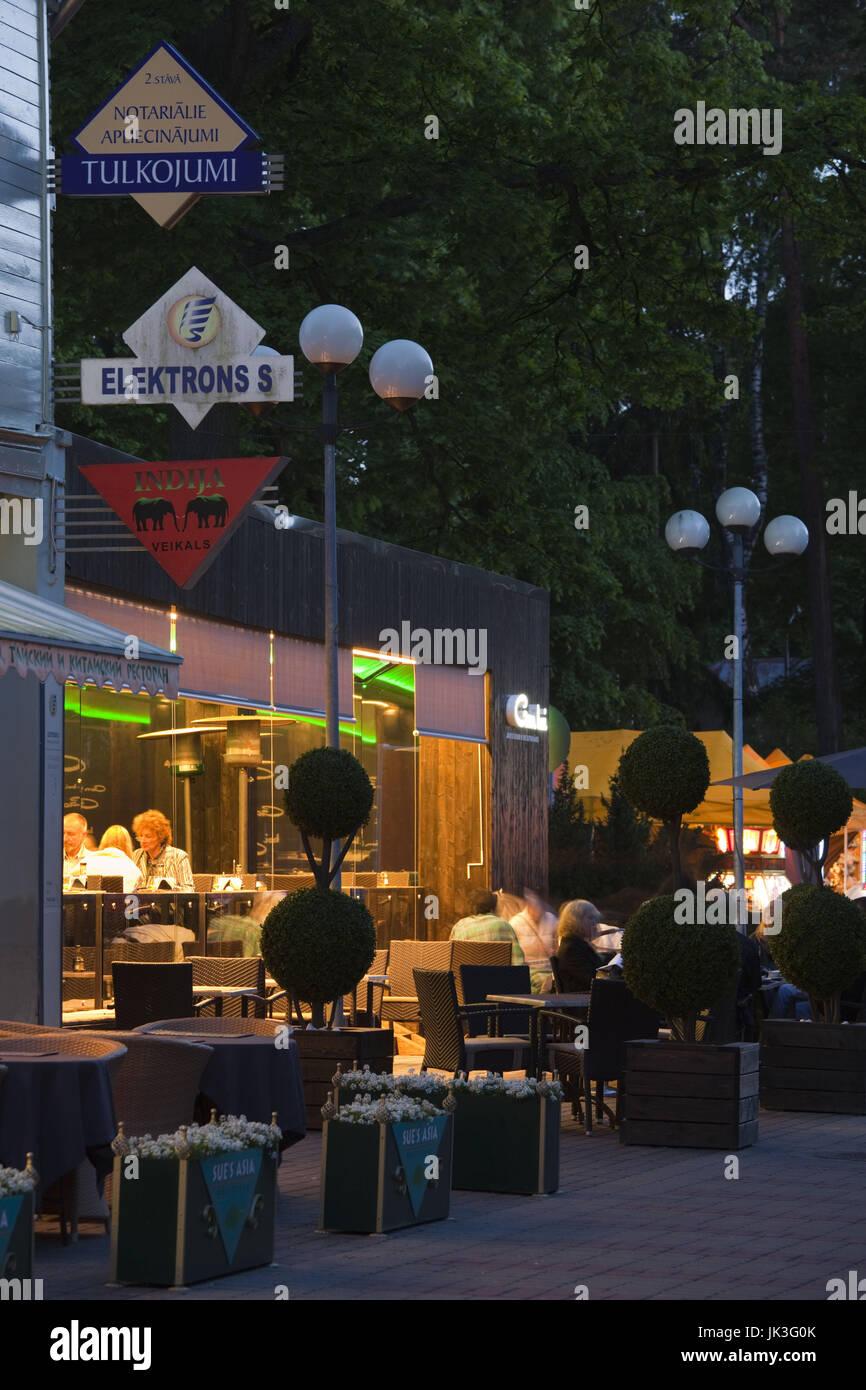 Latvia, Western Latvia, Riga Area, Jurmala, Majori Village, evening on Jomas Iela Street - Stock Image