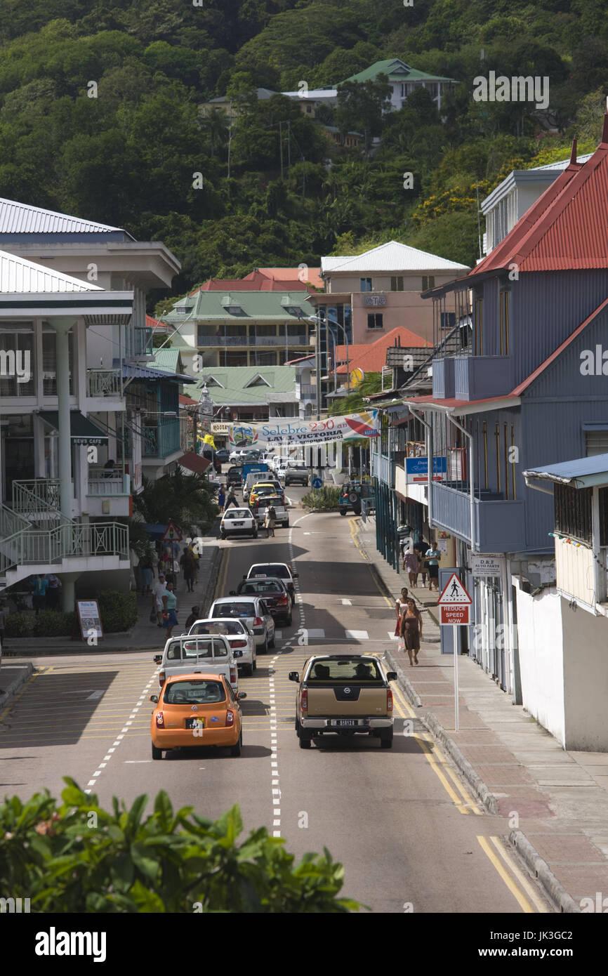 Seychelles, Mahe Island, Victoria, Albert Street - Stock Image