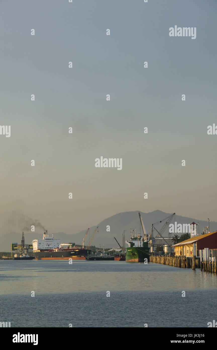 Australia, Queensland, North Coast, Cairns, Port of Cairns, Sunrise, Stock Photo