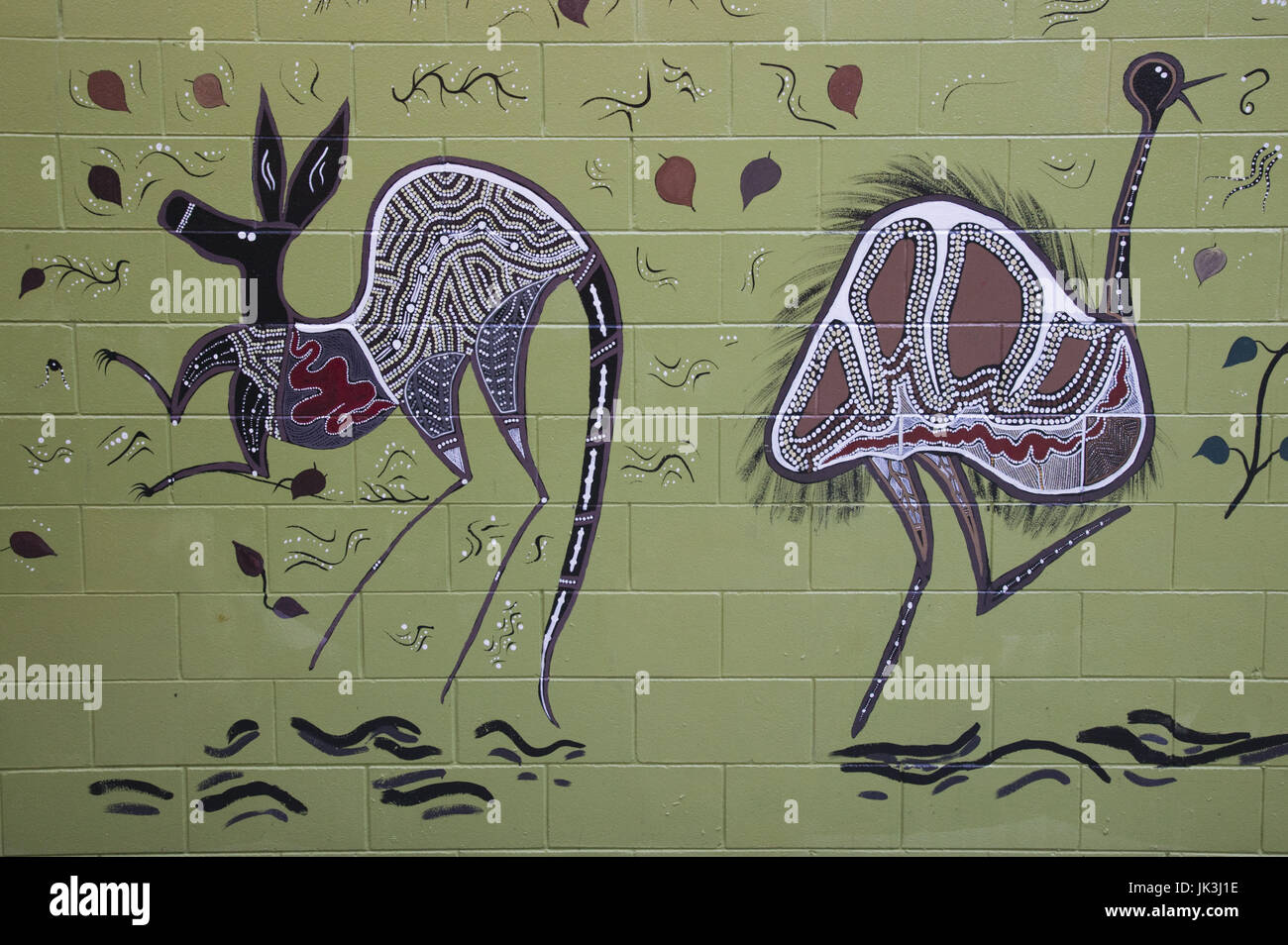 Australia, Queensland, North Coast, Kuranda, Aboriginal Wall Art, Stock Photo