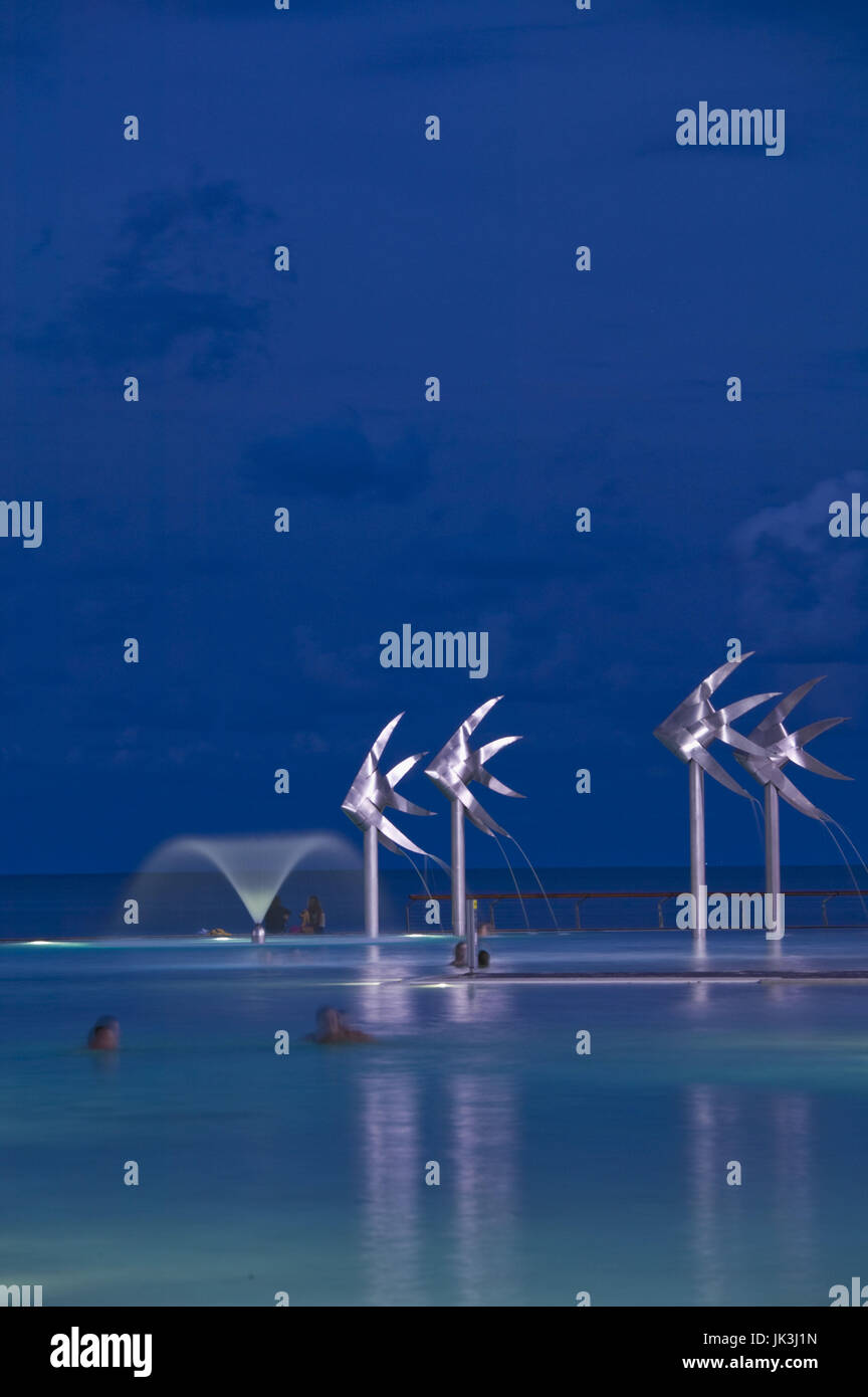 Australia, Queensland, North Coast, Cairns, Cairns Lagoon, Evening, Stock Photo