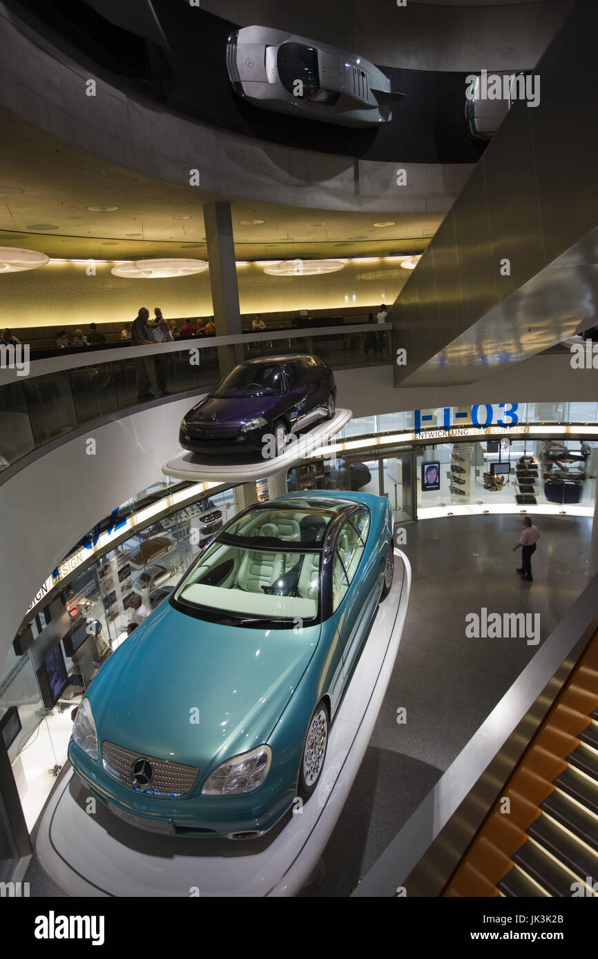 Germany, Baden-Württemberg, Stuttgart, Mercedes Benz Museum, Fascination of Technology Show Cars, - Stock Image