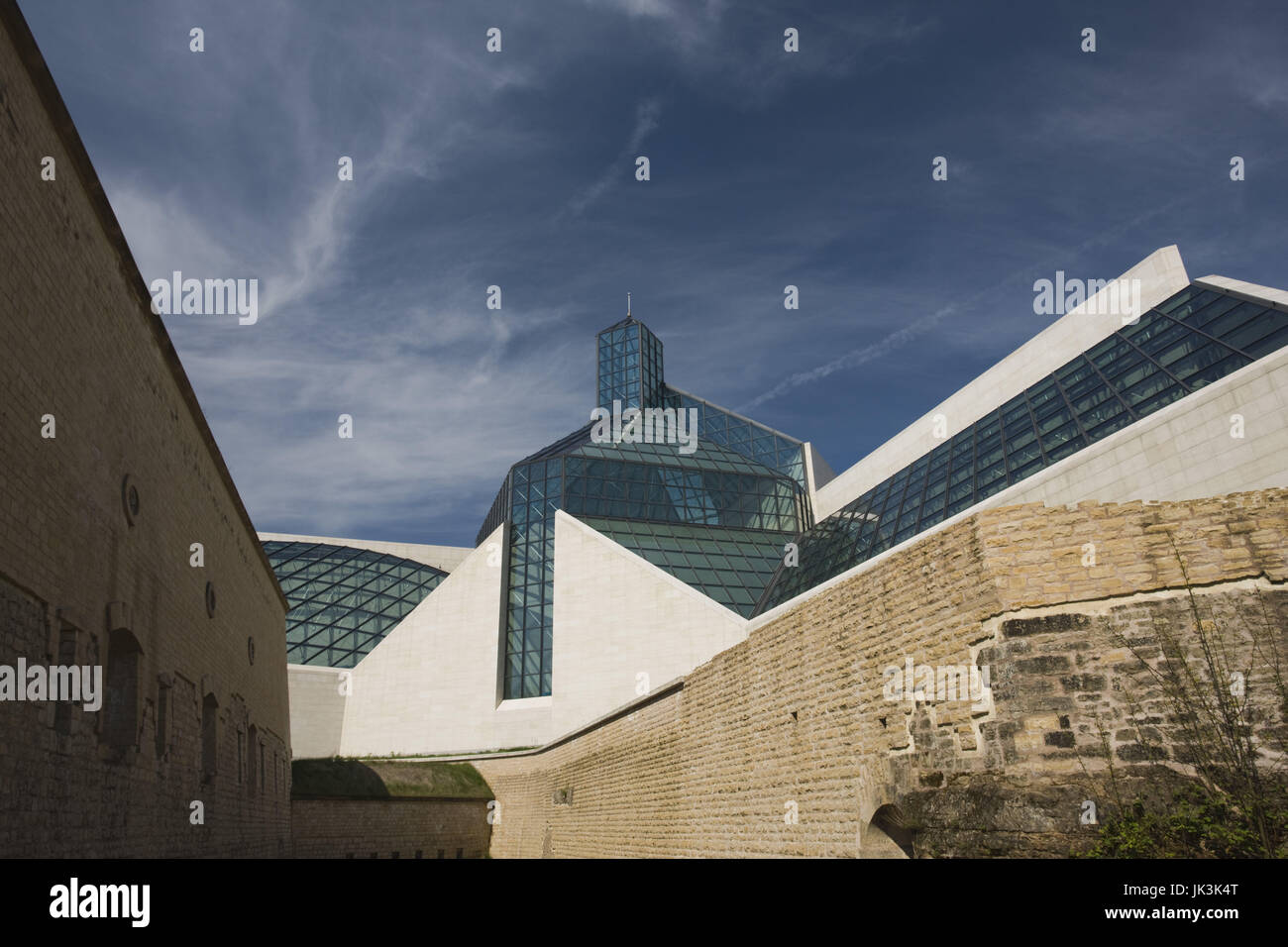 Luxembourg, Luxembourg City, Musee d'Art Moderne Grand Duc Jean, Modern Art Museum, built 2006, Stock Photo