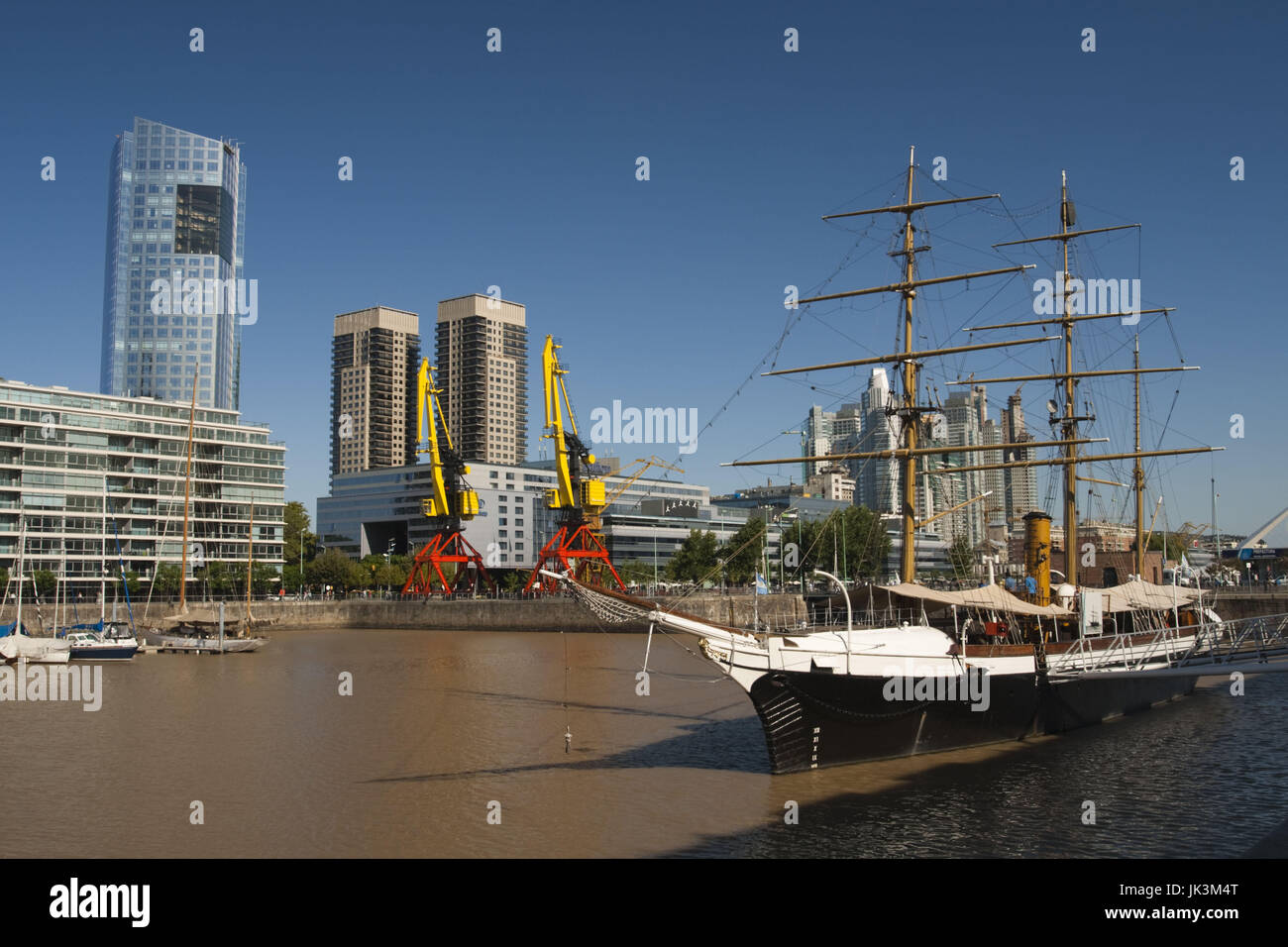 Argentina, Buenos Aires, Puerto Madero, Corbeta Uruguay, tall ship that visited Antartica in 1903 Stock Photo