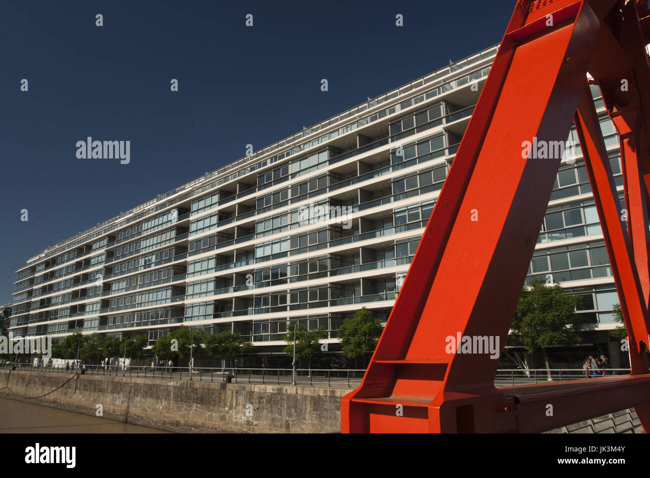 Argentina, Buenos Aires, Puerto Madero, new portside buildings - Stock Image