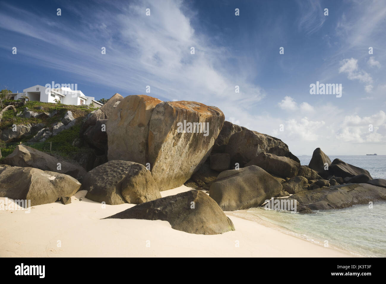 Seychelles Mahe Island North East Point Beach House Stock