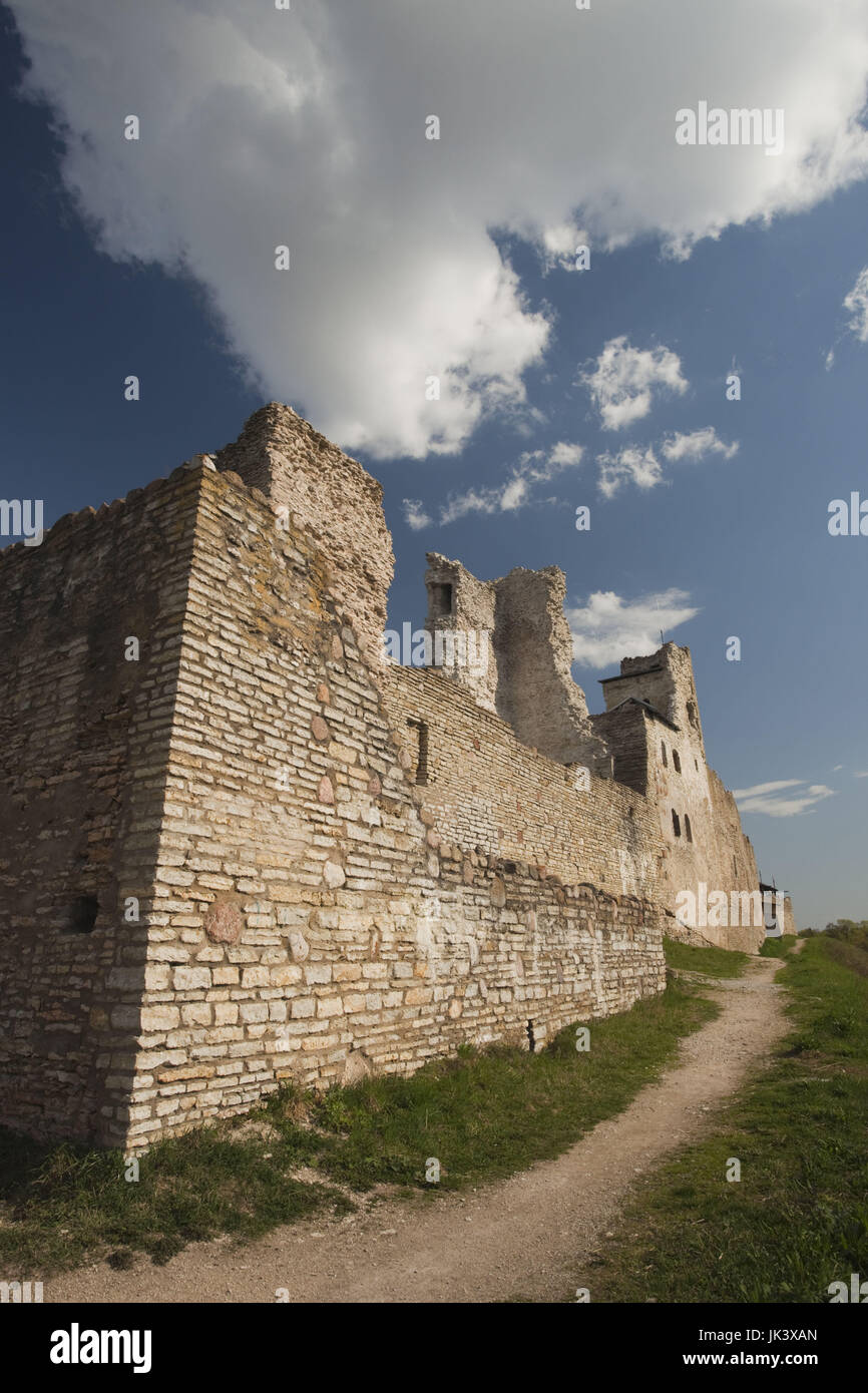 Estonia, Northeastern Estonia, Rakvere, Rakvere Castle, b. 14th century, exterior - Stock Image