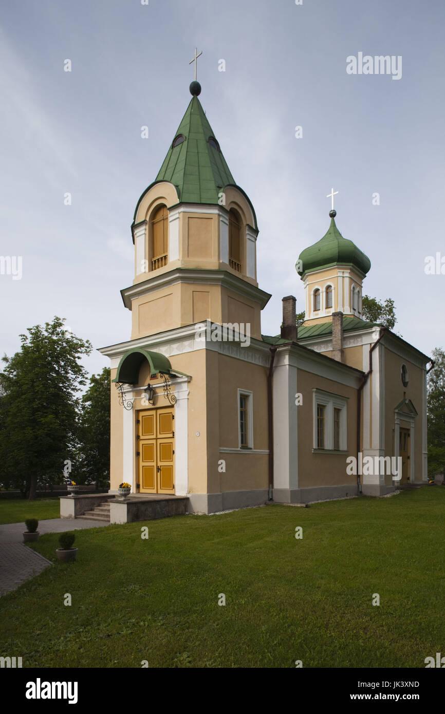 Estonia, Western Estonia, Haapsalu, St. Maria-Magdalena Russian Orthodox Church, b. 1836 - Stock Image