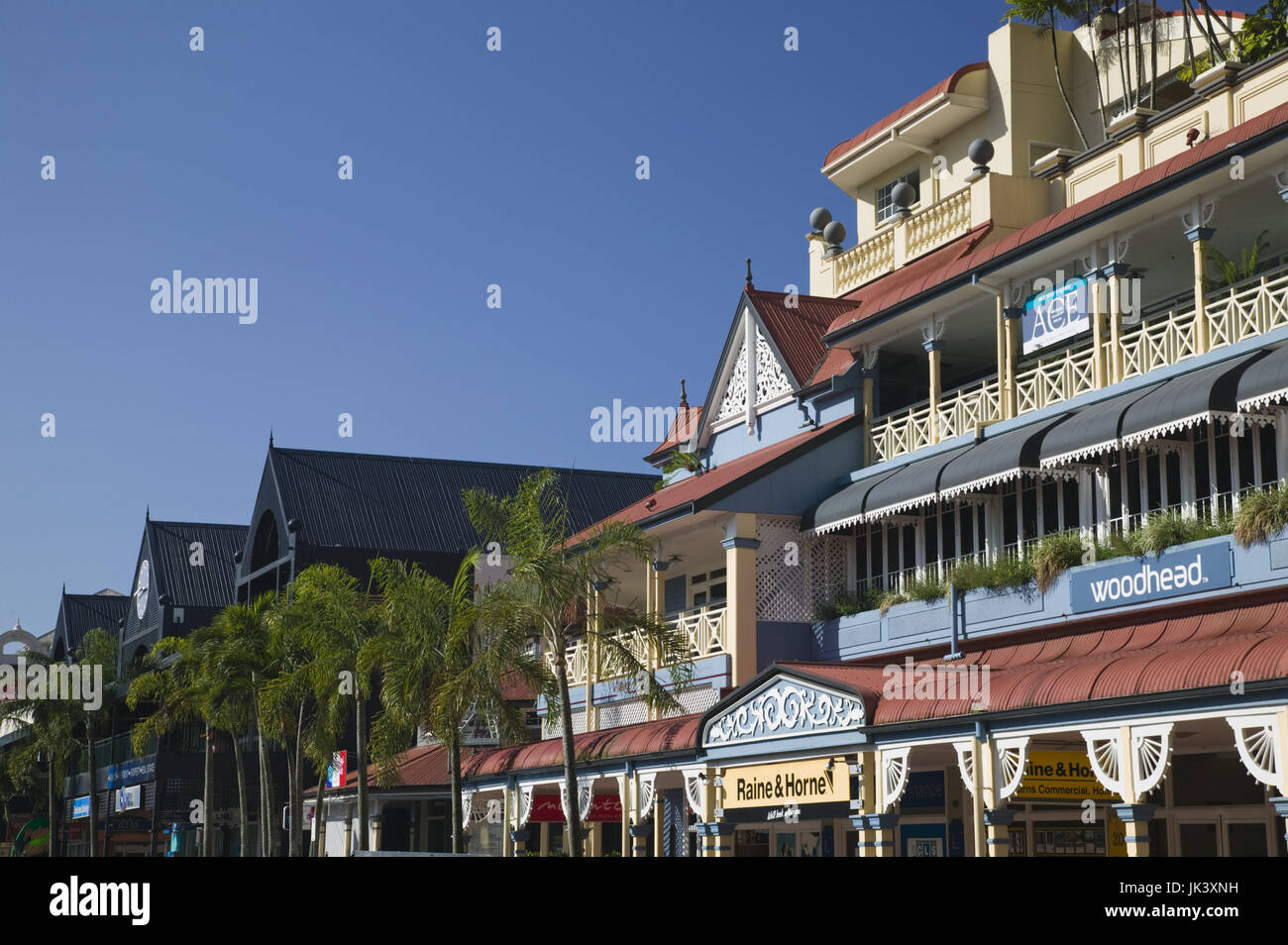 Australia, Queensland, North Coast, Cairns, Detail of The Village Complex, Stock Photo