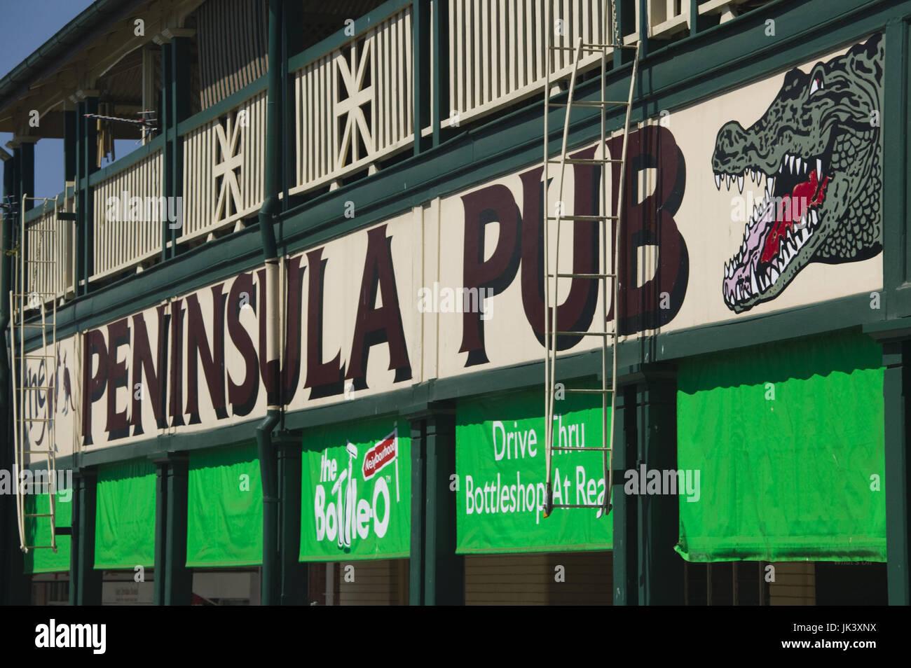 Australia, Queensland, North Coast, Mareeba, Detail of the Penninsula Pub, Stock Photo