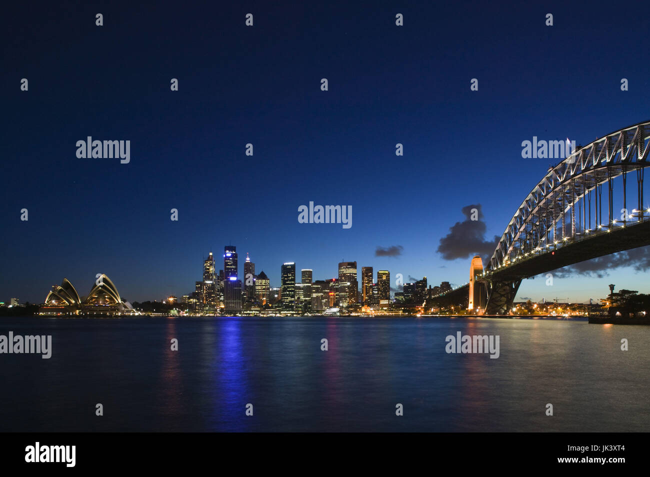 Australia, New South Wales, Sydney, Sydney Opera House, Sydney Skyline and Sydney Harbour Bridge from Kirribilli, - Stock Image