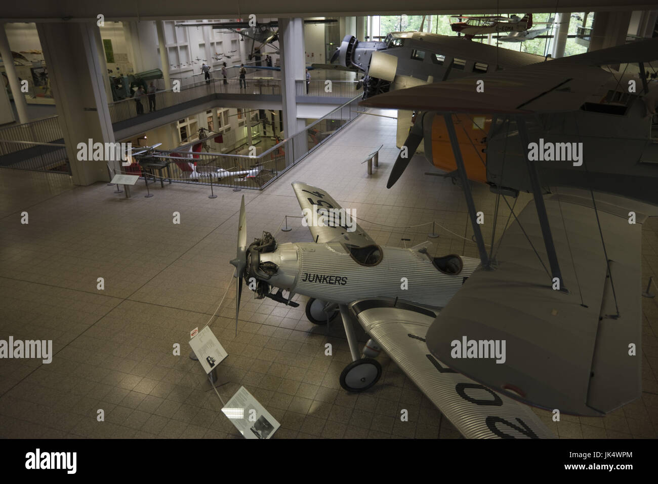 Germany, Bavaria, Munich, Deutsches Museum, Aviation Section, Junkers Monoplane, - Stock Image