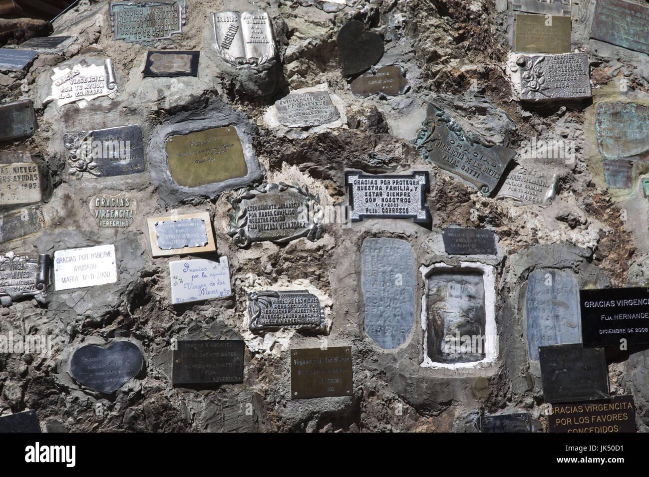 Argentina, Rio Negro Province, Lake District, San Carlos de Bariloche, Virgin of the Snows shrine - Stock Image