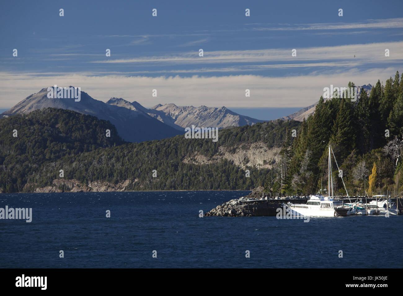 Argentina, Rio Negro Province, Lake District, Llao Llao, Lake Nahuel Huapi - Stock Image