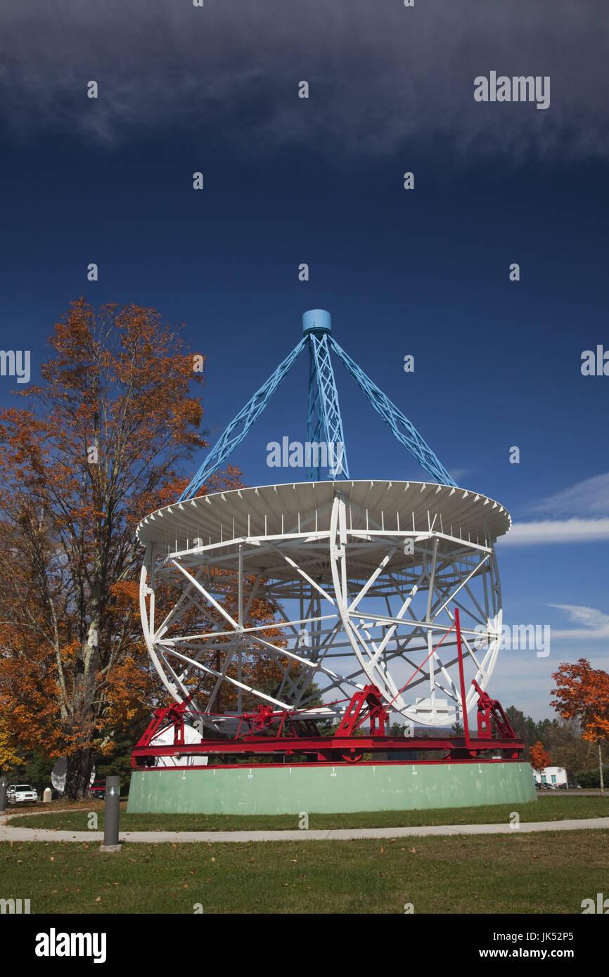USA, West Virginia, Green Bank, National Radio Astronomy Observatory, Grote Reber 1937 radio telescope Stock Photo